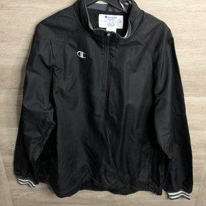 Champion Mens XL Black All Star 1/4 Zip Jacket NEW